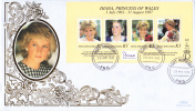 Papua New Guinea FDC Scott #937 Sheet Of 4 Diana Princess Of Wales - Papouasie-Nouvelle-Guinée