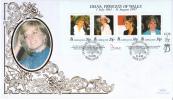 Gibraltar FDC Scott #754 Sheet Of 4 Diana Princess Of Wales - Gibraltar