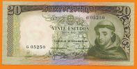 Portugal 20 Escudos 26/5/1964 AUNC  RADAR / CAPICUA / PALINDROME  05250 - Portugal