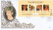 Vanuatu FDC Scott #719 Sheet Of 4 Diana Princess Of Wales - Vanuatu (1980-...)
