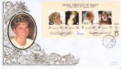Kiribati FDC Scott #720 Sheet Of 4 Diana Princess Of Wales - Kiribati (1979-...)
