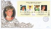 St. Helena FDC Scott #711 Sheet Of 4 Diana, Princess Of Wales - Sainte-Hélène