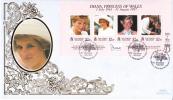 Solomon Islands FDC Scott #867 Sheet Of 4 Diana, Princess Of Wales - Salomon (Iles 1978-...)