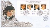 Tonga FDC Scott #980 Sheet Of 4 Diana, Princess Of Wales - Tonga (1970-...)