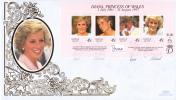 Norfolk Island FDC Scott #645 Sheet Of 4 Diana, Princess Of Wales - Ile Norfolk