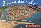 Cp , Avion , Saluti Dal Cielo , BELLARIA , Panorama , Ed : Plurigraf , Vue Aérienne , Italie , Voyagée - Avions