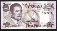 BOTSWANA   P11   5   PULA   1982    UNC. - Botswana