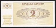 SLOVENIA   P2   2  TOLAR   1990    UNC. - Slovénie