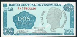 VENEZUELA   P69   2   BOLIVARES    1989    UNC. - Venezuela