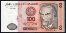 PERU   P132b   100  INTIS   1986 DATE  1986    UNC. - Peru