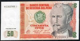 PERU   P131a   50  INTIS   1986 DATE  1986    UNC. - Perú