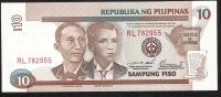 PHILIPPINES  P187f   10  PISO   2000   UNC. - Philippines