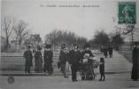 21 : Dijon - Cours Du Parc - Rond-point - Belle CPA Animée Avec Timbre-taxe Au Verso - Dijon