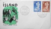 Iceland 1960 Weltflüchtlingsjahr / World Refugee Year  1959/1960  FDC Mi. 340-341  ( Lot 1617 ) - FDC