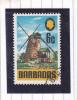 BARBADOS 1970 6c OLD SUGAR MILL MULTICOLOURED (SS689) USED - Barbados (1966-...)