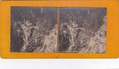 Photo Stereoscopique Suisse Pont Et Torrent Du Trient N° 3 - Photos Stéréoscopiques