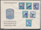 EAST GERMANY DDR 1968 Winter Olympic Games Grenoble Mi 1335-1340 Cover #13790 - Hiver 1968: Grenoble