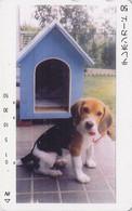 RARE Télécarte Japon / TCP110-002 - CHIEN BEAGLE - DOG Japan Phonecard - HUND - CANE - PERRO - 1008 - Honden