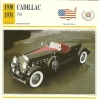 Auto Car Carte Collectioneur Collector Card Edito-Service / Cadillac - Andere Sammlungen