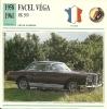 Auto Car Carte Collectioneur Collector Card Edito-Service / Facel Véga - Andere Sammlungen