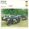 Moto Carte Collectioneur Collector Card Edito-Service / Zündapp Side-car Rusland Wehrmacht - Sonstige