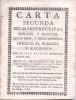 CARTA SEGUNDA DE LAS INSTRUCTIVAS, MORALES Y ERUDITAS QUE EN PROSA, Y METROS DIFERENTES OFRECIO AL PUBLICO AÑO 1760 DON - Religion & Occult Sciences