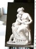 STATUA  AMOR  AMORE E MUSA AMOR UND  DIE  MUSE S1910  DS15109 - Sculture