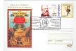 JULES VERNE, 2005, COVER STATIONERY, ENTIER POSTAL, OBLITERATION CONCORDANTE, ROMANIA - Schrijvers
