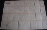 Rare Plan Parcellaire POPP De VERGNIES Arrondissement De Charleroi Canton De Beaumont Dans Sa Pochette Avec Liste - Cartes Topographiques