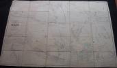 Rare Plan Parcellaire POPP De SEILLES Arrondissement De HUY Canton De Heron Dans Sa Pochette - Cartes Topographiques
