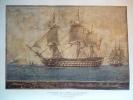 """Le Vaisseau De L'Empire L' """" Austerlitz """" , Gravure D'aprés Aquarelle De Roux - Documents Historiques"""
