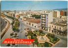 CARTOLINA FORMATO GRANDE SALUTI DA MANFREDONIA FOGGIA - Manfredonia
