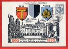 FRANCE RATTACHEMENT DES 3 EVECHES SUR CARTE DE 1952 DE METZ - Cartes-Maximum