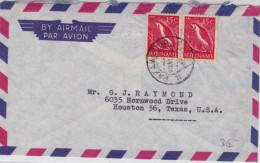 SURINAM - 1960 - ENVELOPPE Par AVION De PARAMARIBO Pour HOUSTON (TEXAS) - OISEAUX ARA - Surinam ... - 1975