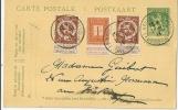 Belgique, Entier Postal Avec Affr. Complémentaire - Ganzsachen