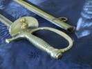 EPEE SOUS OFFICIER GENDARMERIE // MODELE 1887 // LAME 3 PANS // MANUFACTURE DE CHATELLERAULT  // AVEC FOURREAU - Armi Bianche