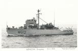 ( CPA BATEAUX DE GUERRE )  ALENÇON  /  Dragueur  12-11-1975  - - Warships