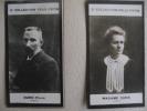 Pierre Et  Marie Curie  Lot 2  Anciennes Photos Bromure - Collection Felix POTIN - Célébrités
