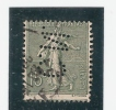 Perforé/perfin/lochung France No 130 C.N.  Comptoir National D´Escompte (295) - Perforés