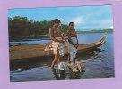 CPSM - GUYANE - Jeunes Femmes Bosch Au Fleuve Maroni - Seins Nus - Nue - Guyane