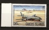 Turks Et Caiques Caicos 1983 N° 16 Iso ** Courants, Iles Caïques, Nouvel Aéroport, Provo, Providenciales, Avion - Turks & Caicos