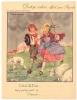 """Les Jolies Chansons De France - """" Il Pleut Bergère """"- Protège Cahier Ancien Pub  BYRRH - En PARFAIT ETAT (voir Scan) - Buvards, Protège-cahiers Illustrés"""