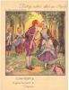 """Les Jolies Chansons De France - """"Nous N'irons Plus Au Bois""""-Protège Cahier Ancien Pub  BYRRH - PARFAIT ETAT (voir Scan) - Buvards, Protège-cahiers Illustrés"""