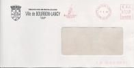 E.M.A (rouge) Mairie De 71 Bourbon Lancy Sur Enveloppe à Entete De La Ville Du 01-03-04 - Poststempel (Briefe)