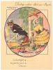 """La Fontaine """"Le Renard & La Cigogne""""-Protège Cahier Ancien Pub  BYRRH - PARFAIT ETAT (voir Scan) - Animaux"""