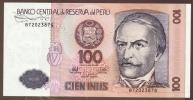 PERU 100 INTIS 26.06.1987 SERIE B  P# 133  Ramón Castilla  UNC - Pérou