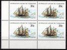 Australian Antarctic 1979 Ships 30c SS Fram MNH Block Of 4 - Unused Stamps