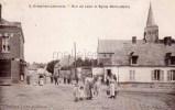 Cpa Crepy En Laonnois (02) Rue De Laon Et Eglise Notre Dame - Ed Delahaye - France