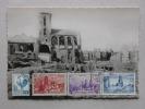 Ref1683B Carte Photo St Malo Cathédrale En Ruine, Rue De La Boucherie, Anniversaire De La Libération + Timbre éd. GREFF - Saint Malo