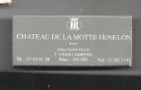 Tourisme, Hôtel, Château, La Motte Fénelon, Classe Ouverte - Boite Allumettes, Neuve Voir Scan, Vide (AL197) - Ferien & Tourismus